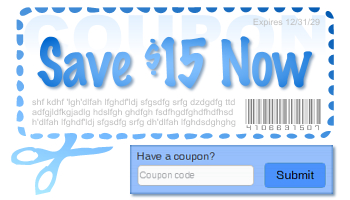 Our Ecommerce suite has lots of features - like Custom Coupons!